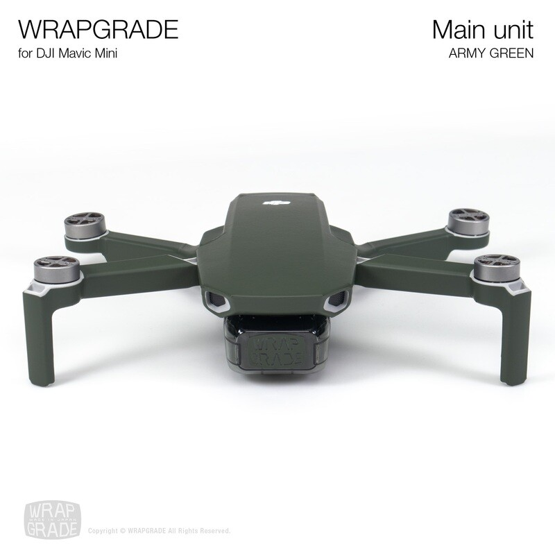 Wrapgrade Poly Skin for Mavic Mini | Main Unit (ARMY GREEN)