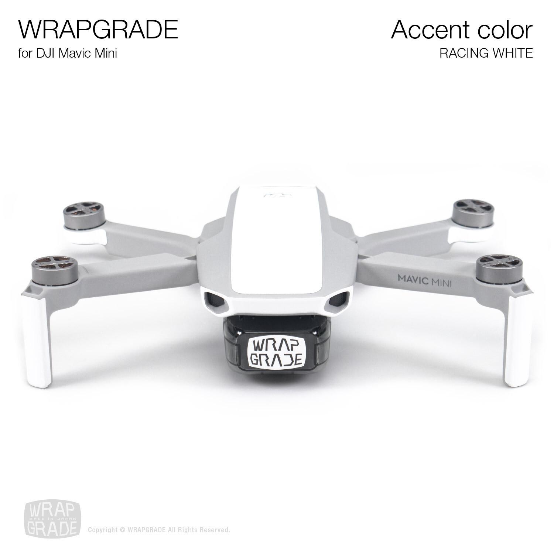 Wrapgrade Poly Skin for Mavic Mini | Accent color (RACING WHITE)