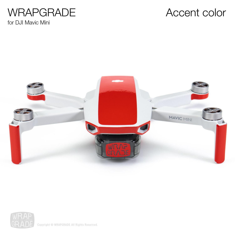 Wrapgrade Poly Skin for Mavic Mini | Accent color (SUPER RED)