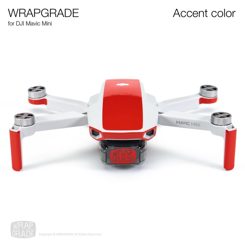Wrapgrade Poly Skin for Mavic Mini | Accent color (SUPER RED)