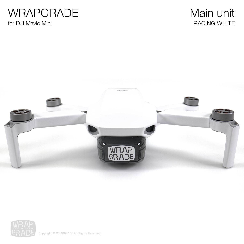 Wrapgrade Poly Skin for Mavic Mini | Main Unit (RACING WHITE)
