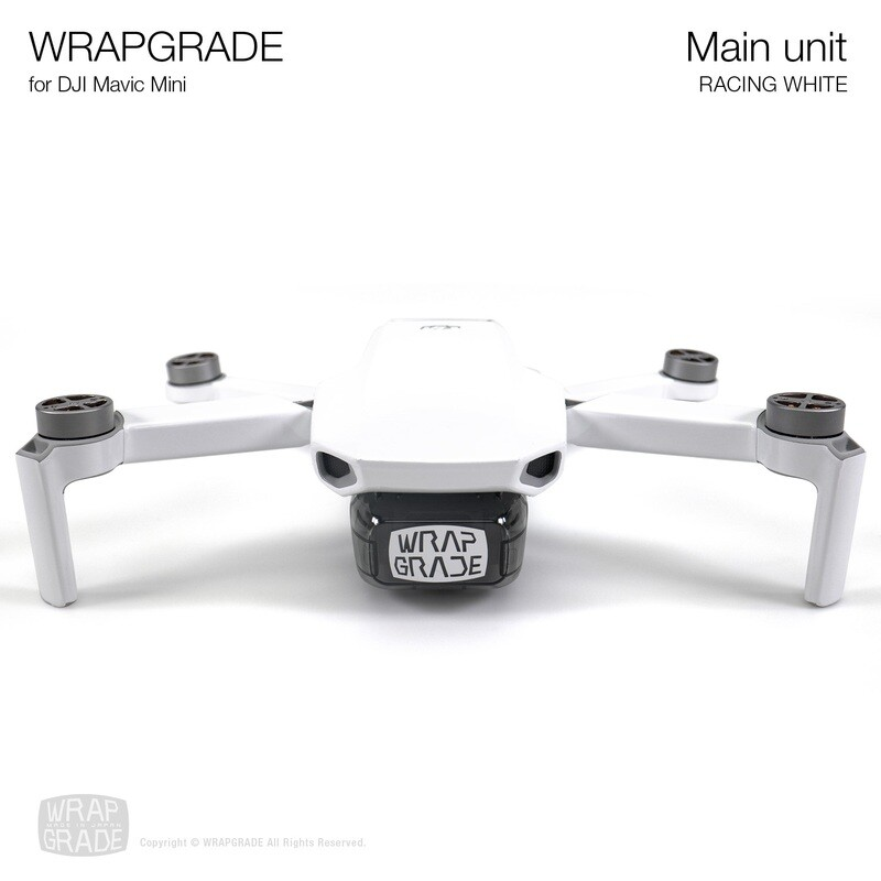 Wrapgrade Poly Skin for Mavic Mini | Main Unit (RACING WHITE)