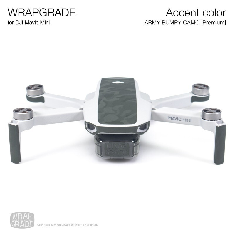 Wrapgrade Poly Skin for Mavic Mini | Accent color (ARMY BUMPY CAMO)