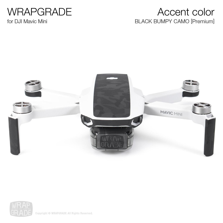 Wrapgrade Poly Skin for Mavic Mini | Accent color (BLACK BUMPY CAMO)