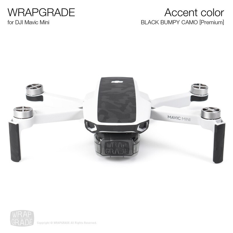 Wrapgrade Poly Skin for Mavic Mini | Accent color (BLACK BUMPY CAMO)