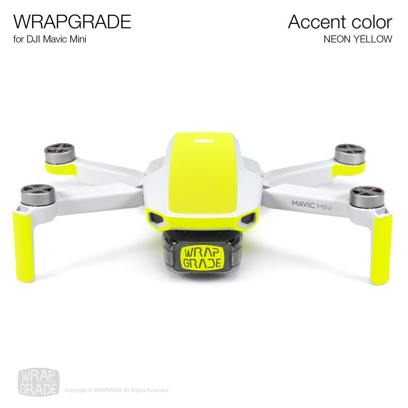 Wrapgrade Poly Skin for Mavic Mini | Accent color (NEON YELLOW)