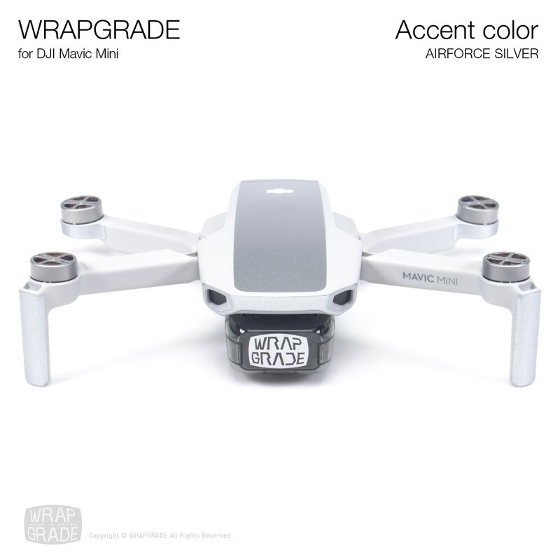 Wrapgrade Poly Skin for Mavic Mini   Accent color (AIRFORCE SILVER)