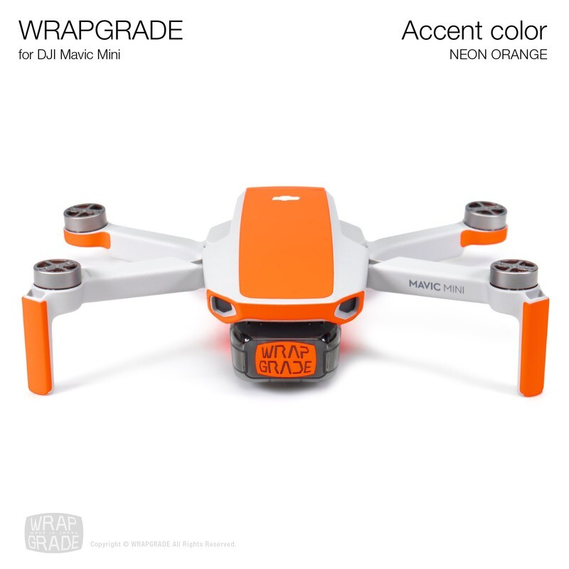 Wrapgrade Poly Skin for Mavic Mini | Accent color (NEON ORANGE)