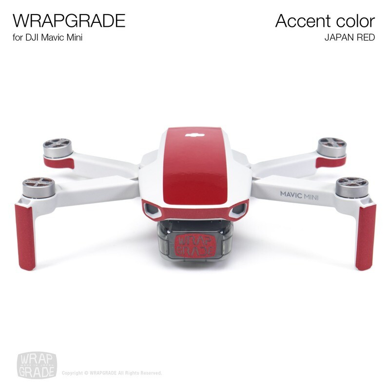 Wrapgrade Poly Skin for Mavic Mini   Accent color (JAPAN RED)