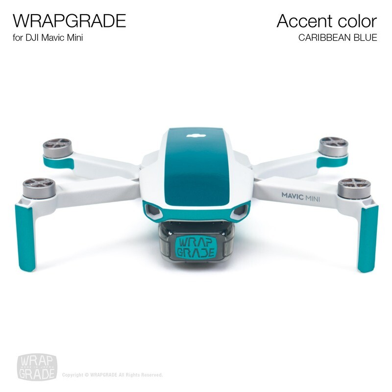 Wrapgrade Poly Skin for Mavic Mini | Accent color (CARIBBEAN BLUE)