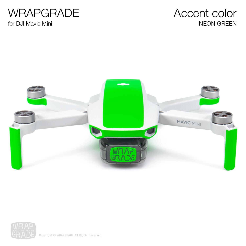 Wrapgrade Poly Skin for Mavic Mini | Accent color (NEON GREEN)
