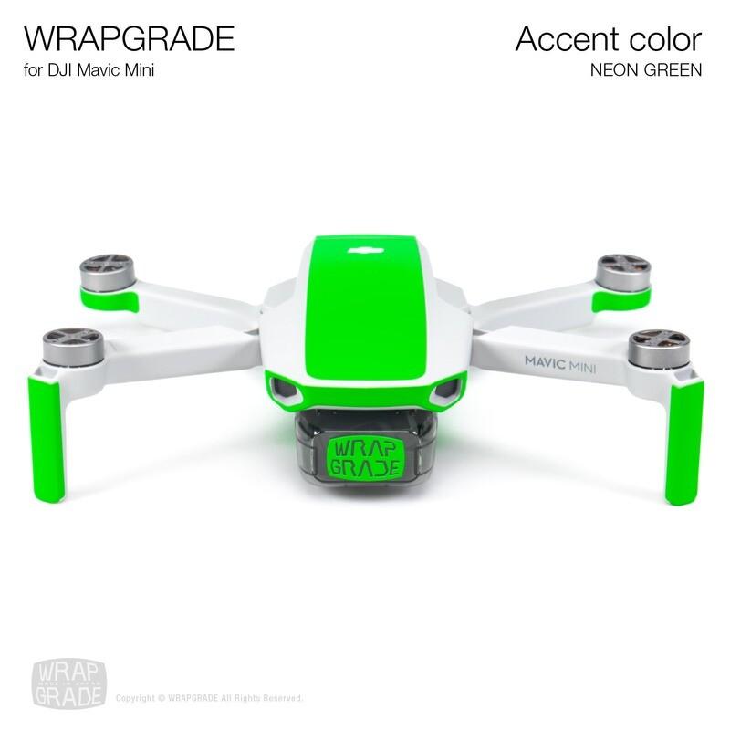 Wrapgrade Poly Skin for Mavic Mini   Accent color (NEON GREEN)