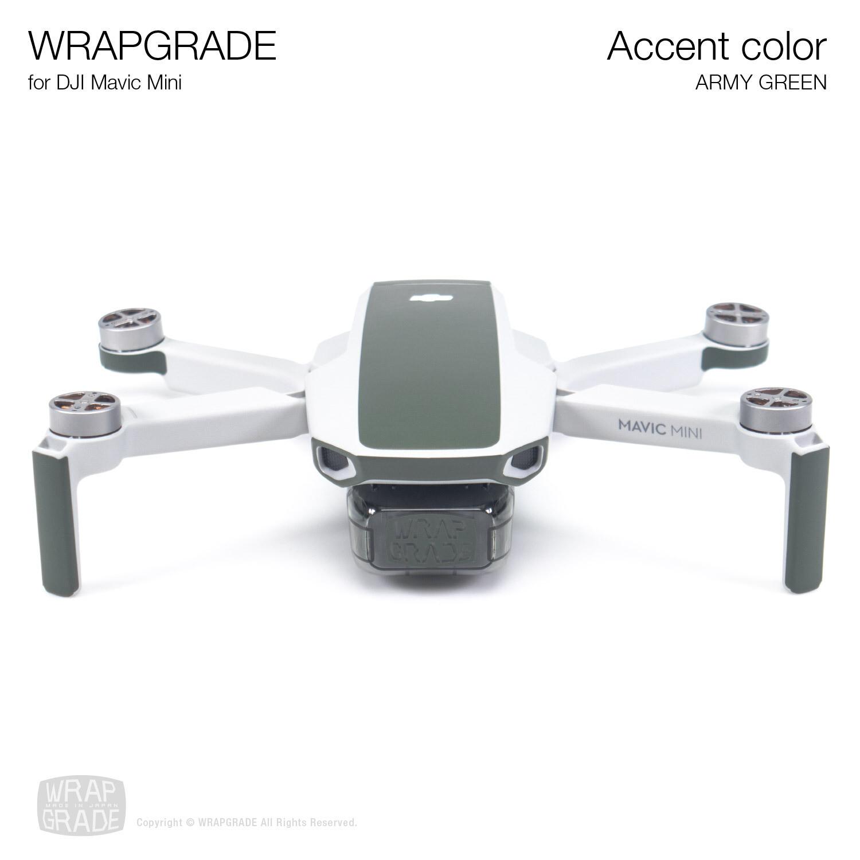 Wrapgrade Poly Skin for Mavic Mini | Accent color (ARMY GREEN)