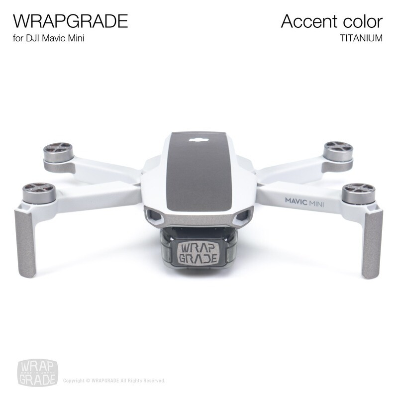 Wrapgrade Poly Skin for Mavic Mini | Accent color (TITANIUM)