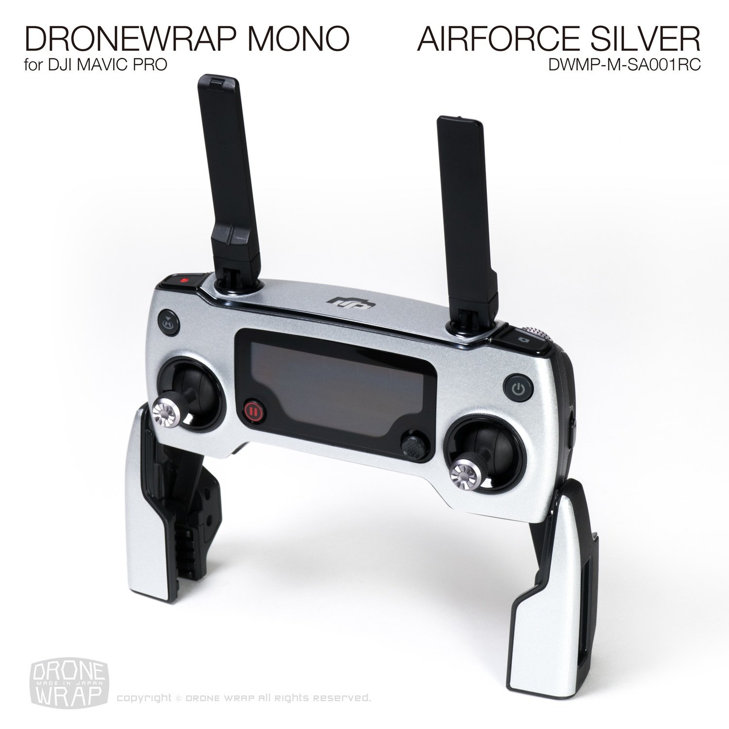 AIRFORCE SILVER for DJI Mavic Pro Remote Controller | Half Gloss