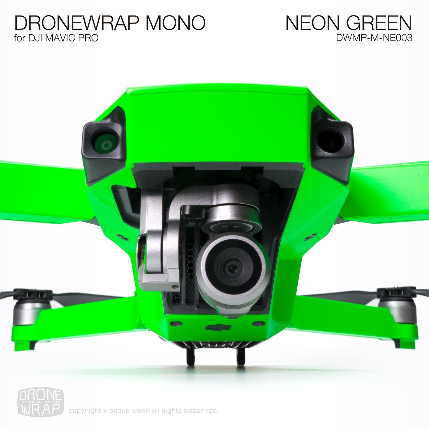 NEON GREEN for DJI Mavic Pro Skin | Half Gloss