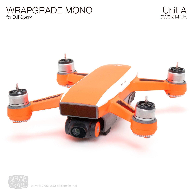 WRAPGRADE MONO for DJI Spark Skin | Unit A: Top stripe & Arm (20 colors)