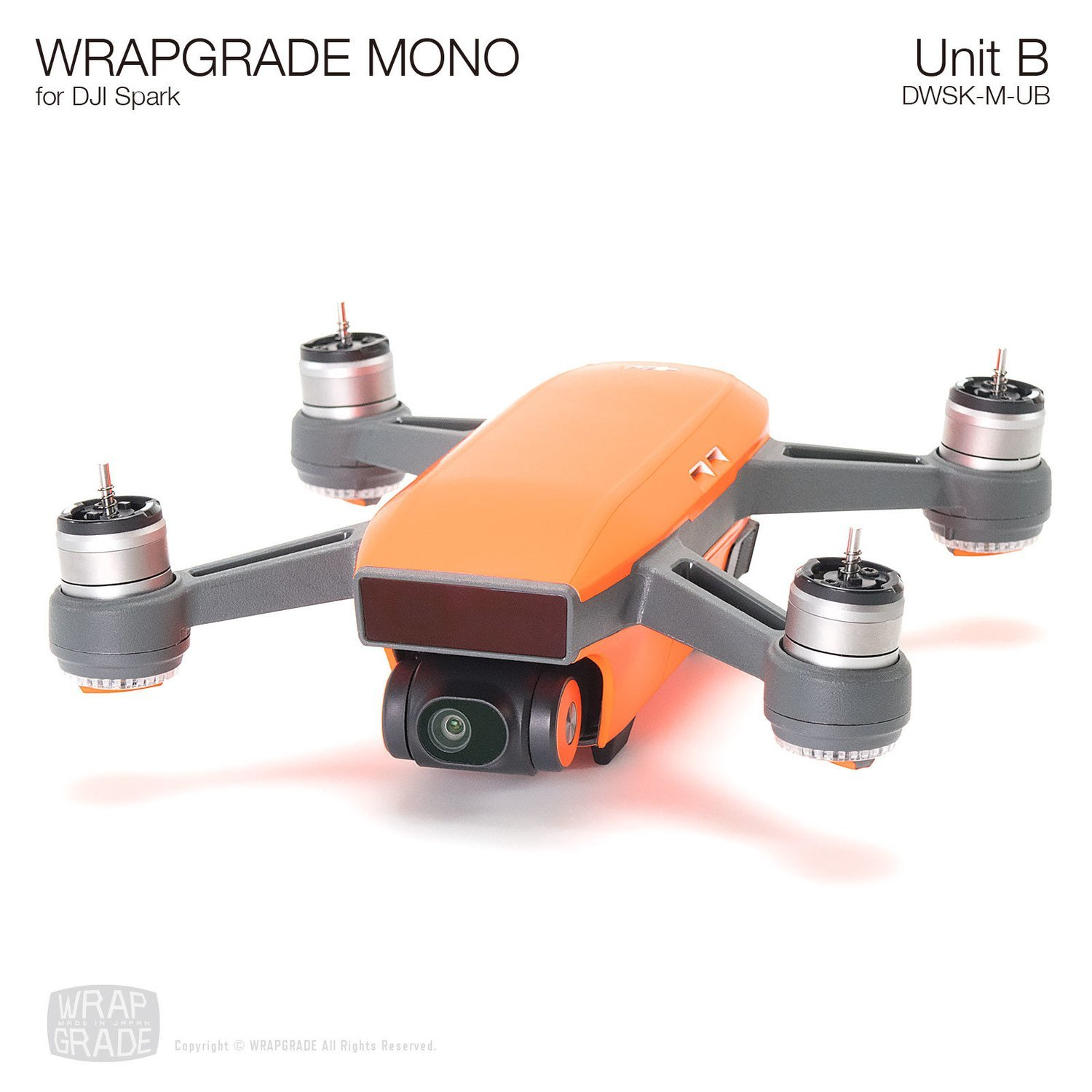 WRAPGRADE MONO for DJI Spark Skin | Unit B: Body & Battery (20 colors)
