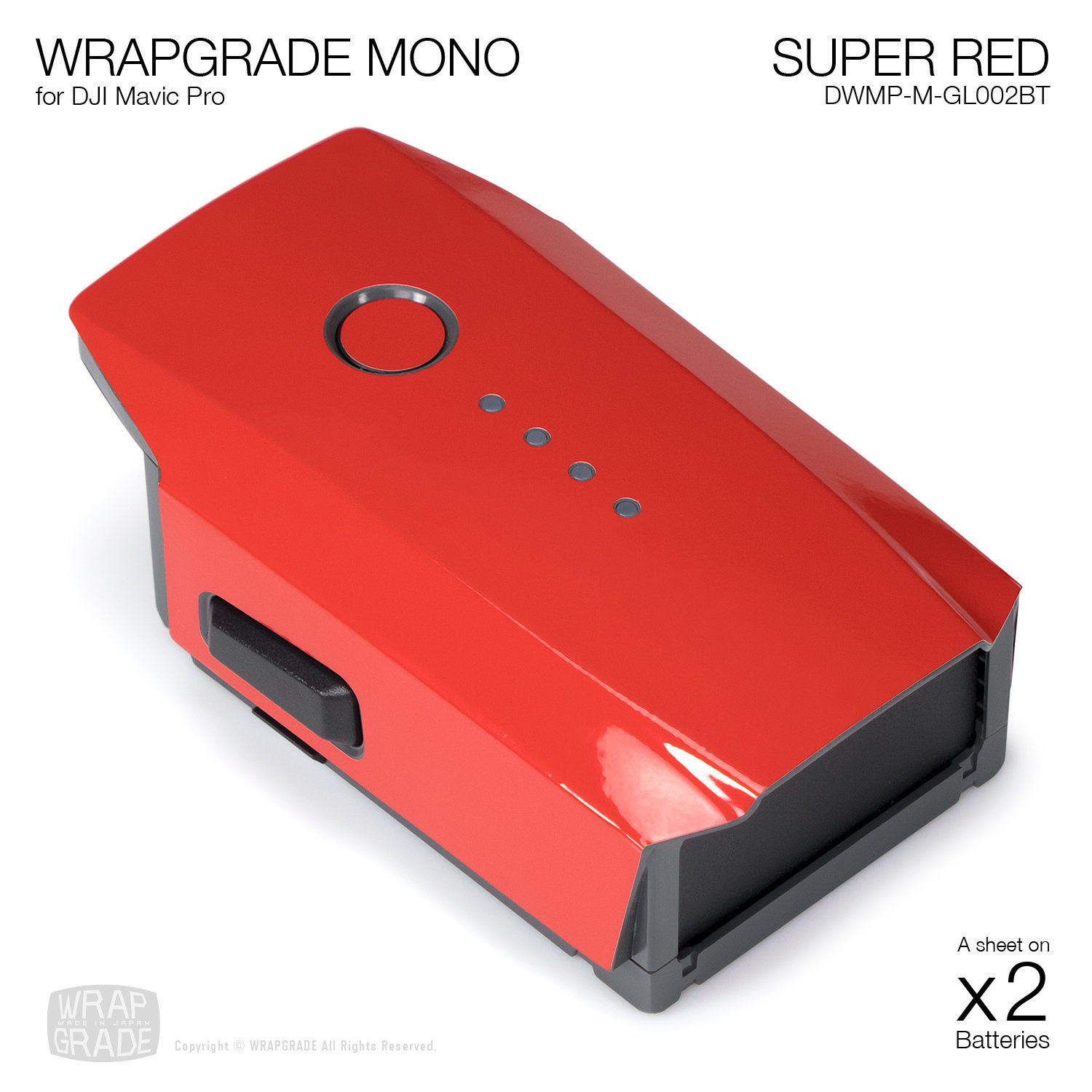SUPER RED for additional batteries | Gloss