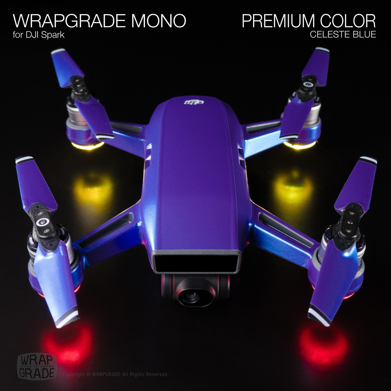 Wrapgrade Mono For Dji Spark Wrapping Skin Sticker Combo Sky Blue Brandwrapgrade Series