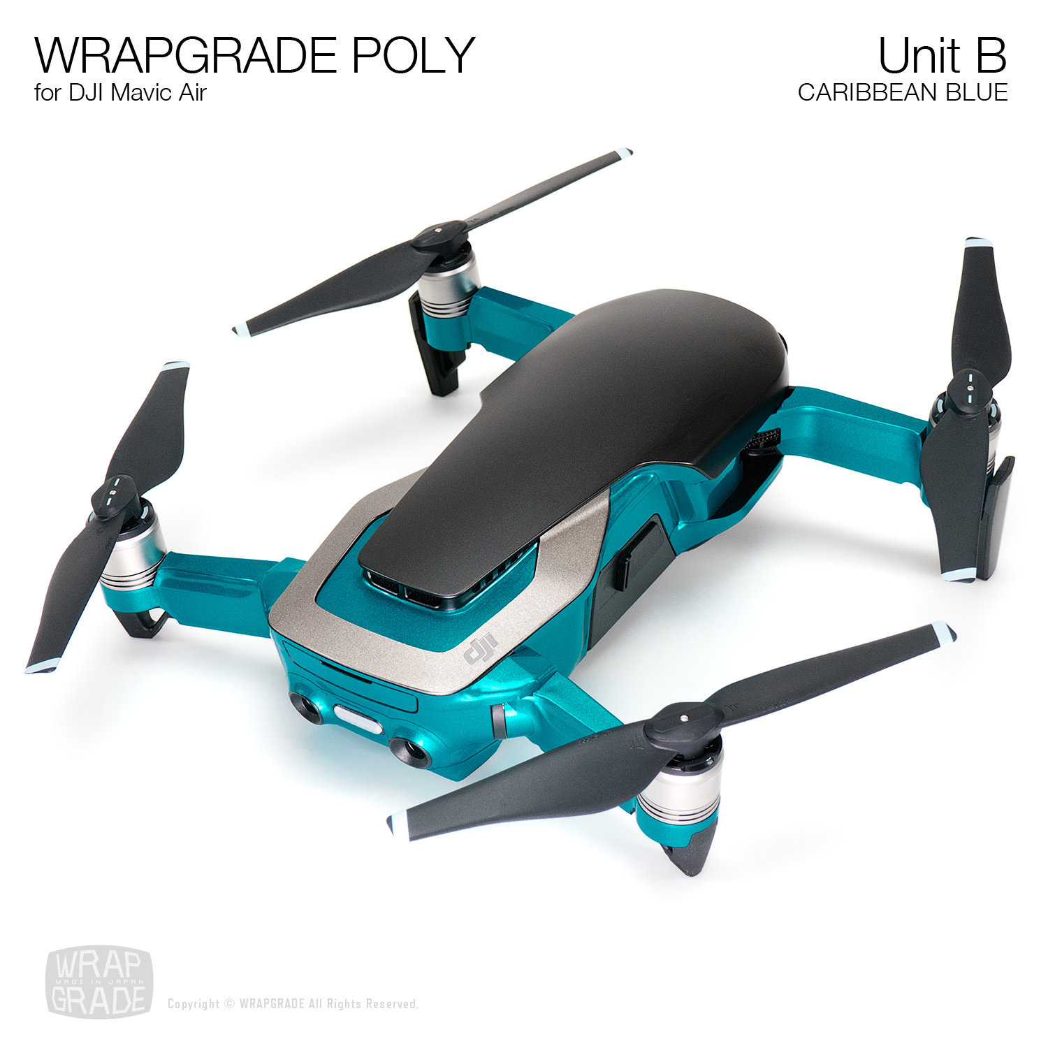 Wrapgrade Poly Skin for DJI Mavic Air | Unit B (20 colors)