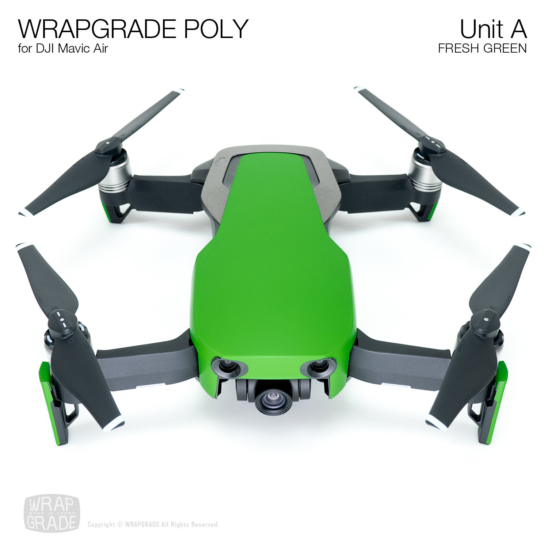 Wrapgrade Poly Skin for DJI Mavic Air | Unit A (FRESH GREEN)