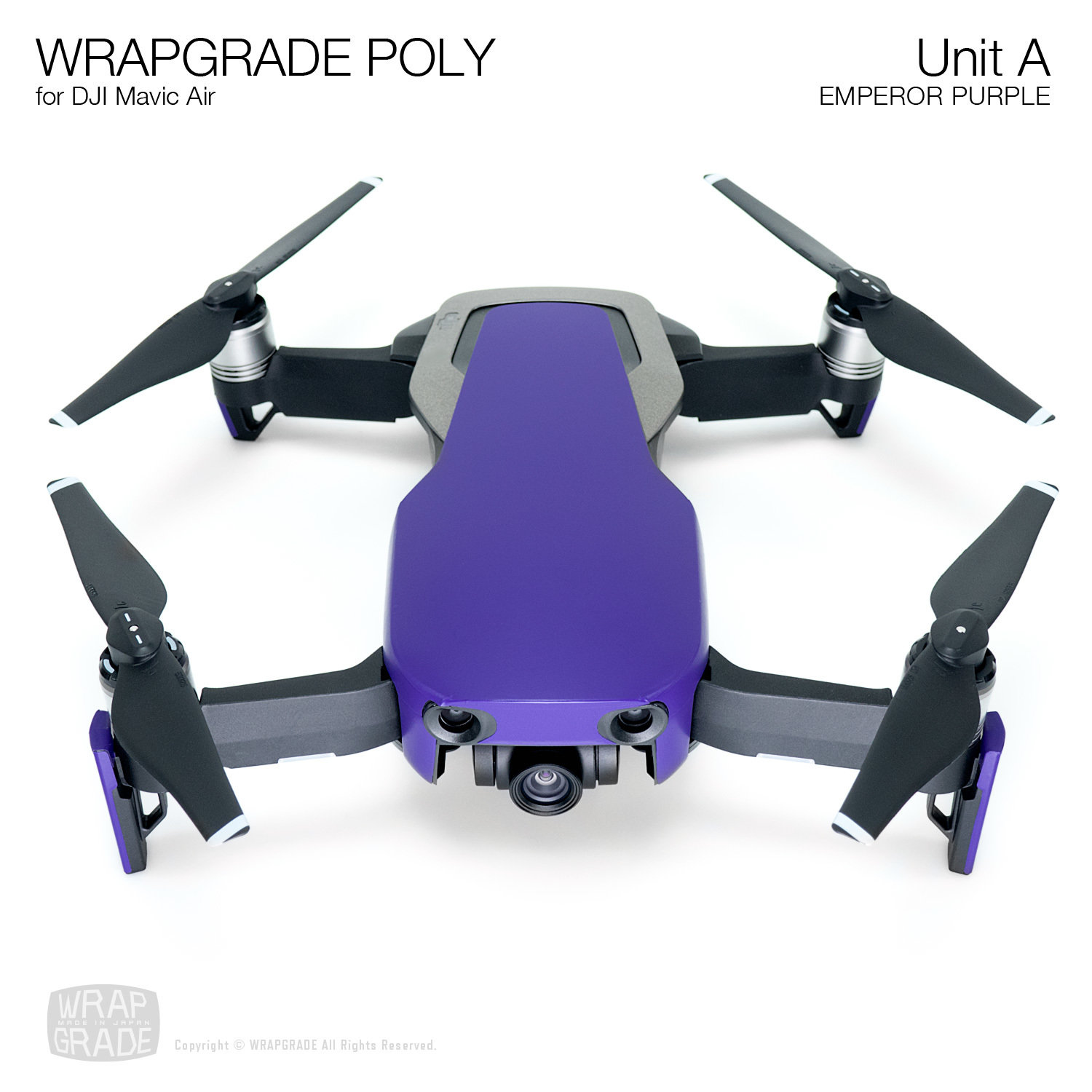Wrapgrade Poly Skin for DJI Mavic Air | Unit A (EMPEROR PURPLE)