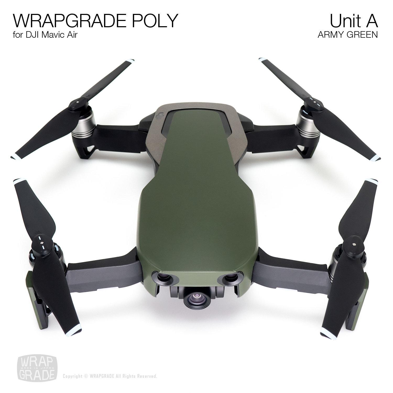 Wrapgrade Poly Skin for DJI Mavic Air | Unit A (ARMY GREEN)