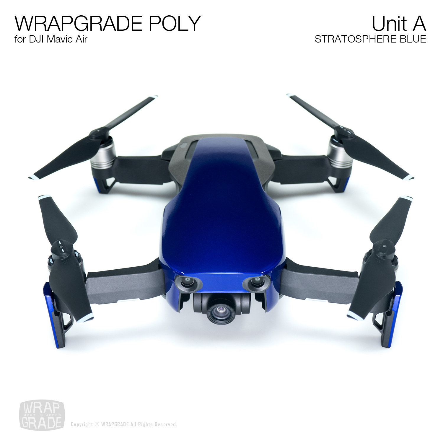 Wrapgrade Poly Skin for DJI Mavic Air | Unit A (STRATOSPHERE BLUE)