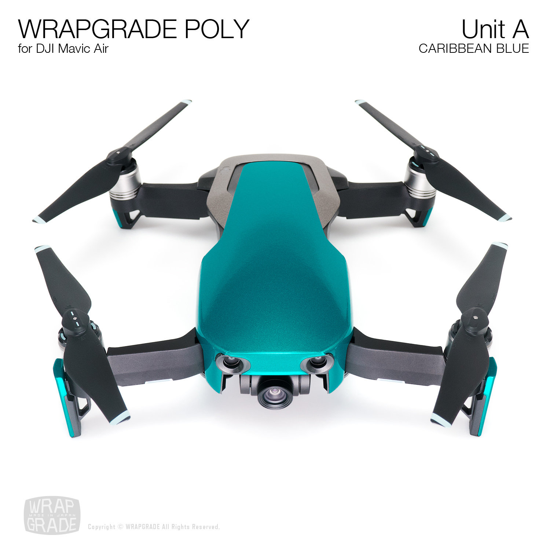 Wrapgrade Poly Skin for DJI Mavic Air | Unit A (CARIBBEAN BLUE)