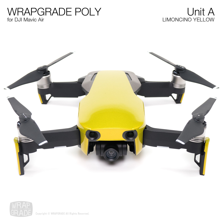 Wrapgrade Poly Skin for DJI Mavic Air | Unit A (LIMONCINO YELLOW)