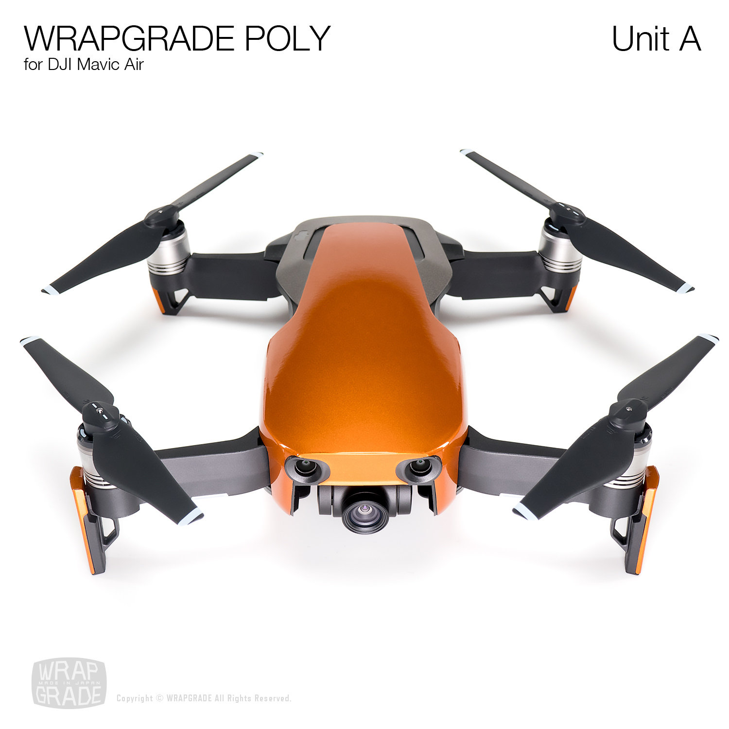 Wrapgrade Poly Skin for DJI Mavic Air | Unit A (BUTTERFLY COPPER)