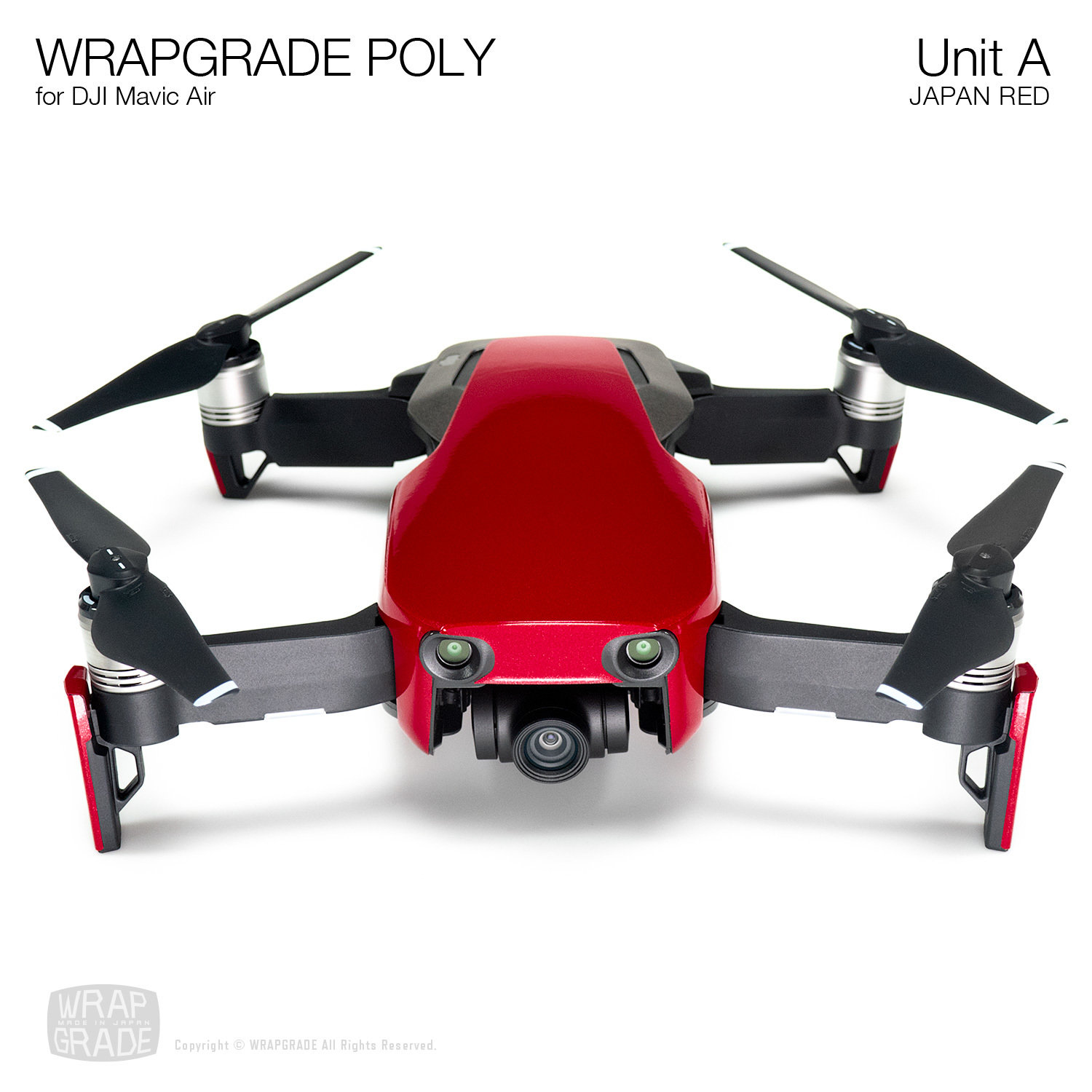 Wrapgrade Poly Skin for DJI Mavic Air | Unit A (JAPAN RED)