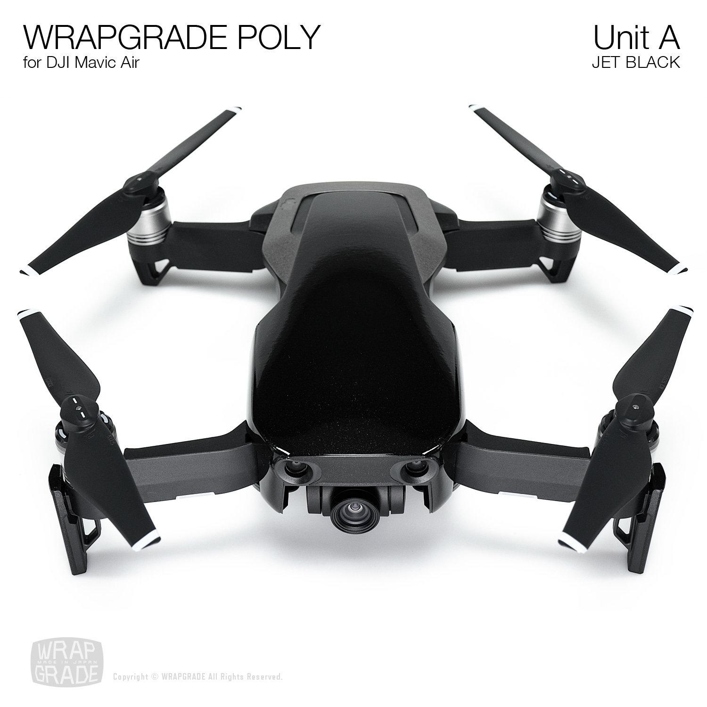 Wrapgrade Poly Skin for DJI Mavic Air | Unit A (JET BLACK)