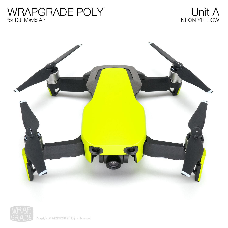 Wrapgrade Poly Skin for DJI Mavic Air | Unit A (NEON YELLOW)