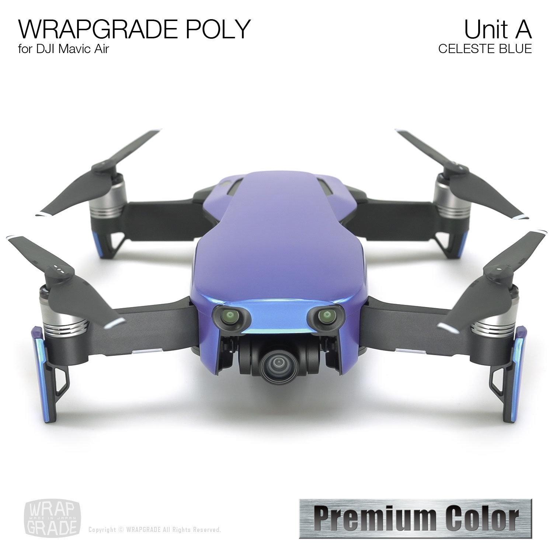 Wrapgrade Poly Skin for DJI Mavic Air | Unit A (CELESTE BLUE)