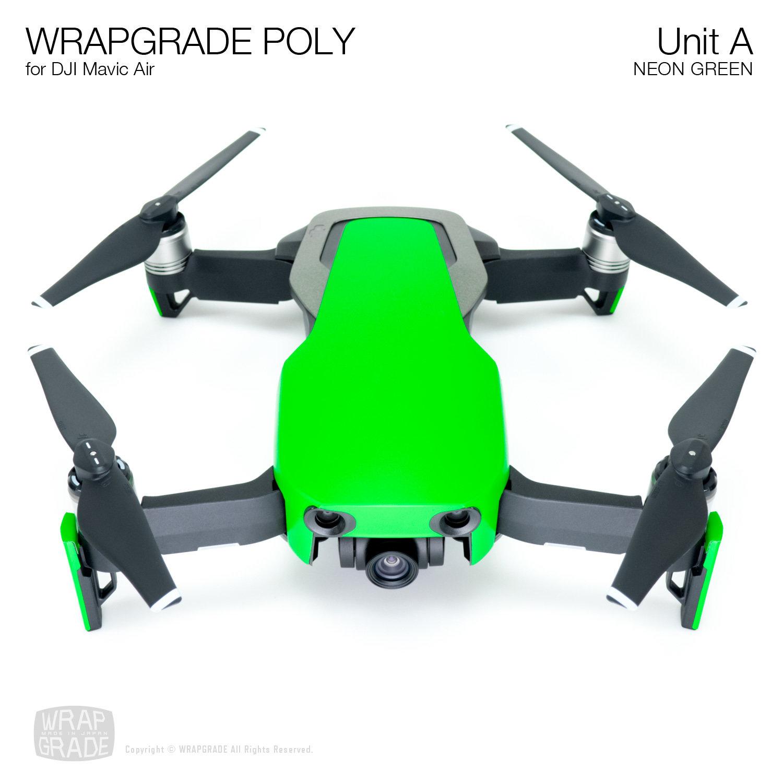 Wrapgrade Poly Skin for DJI Mavic Air | Unit A (NEON GREEN)