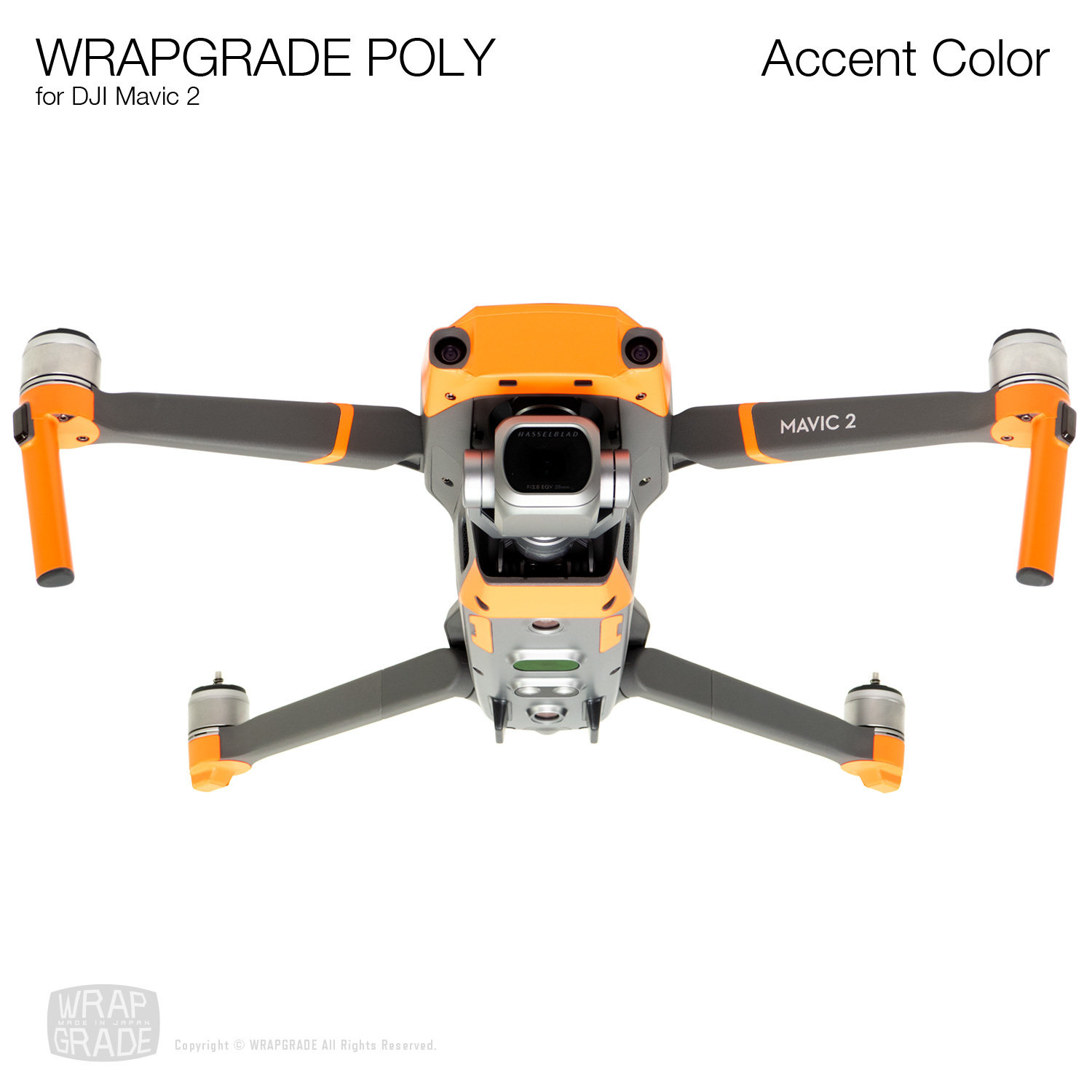 Wrapgrade Poly Skin for DJI Mavic 2 | Accent color [19 colors]