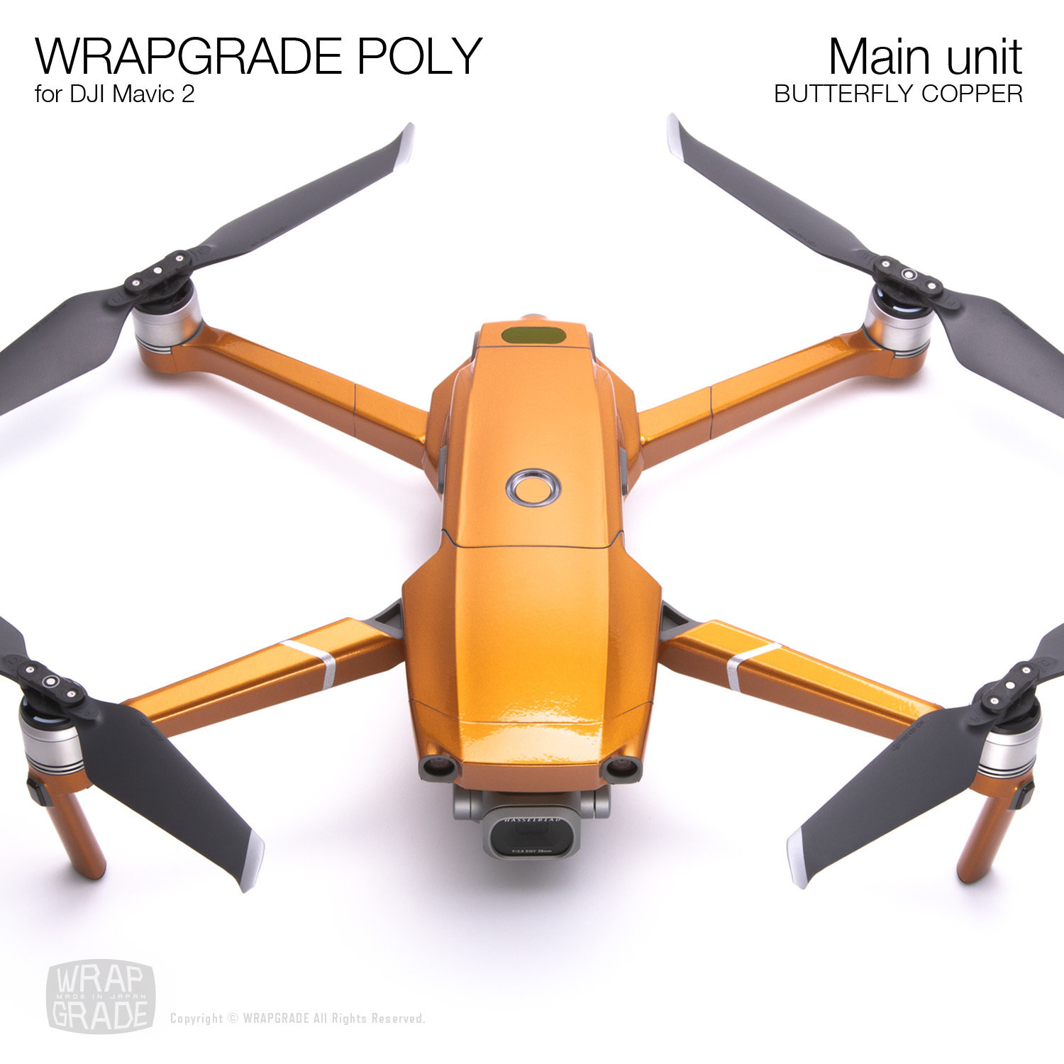Wrapgrade Poly Skin for DJI Mavic 2 | Main unit (BUTTERFLY COPPER)