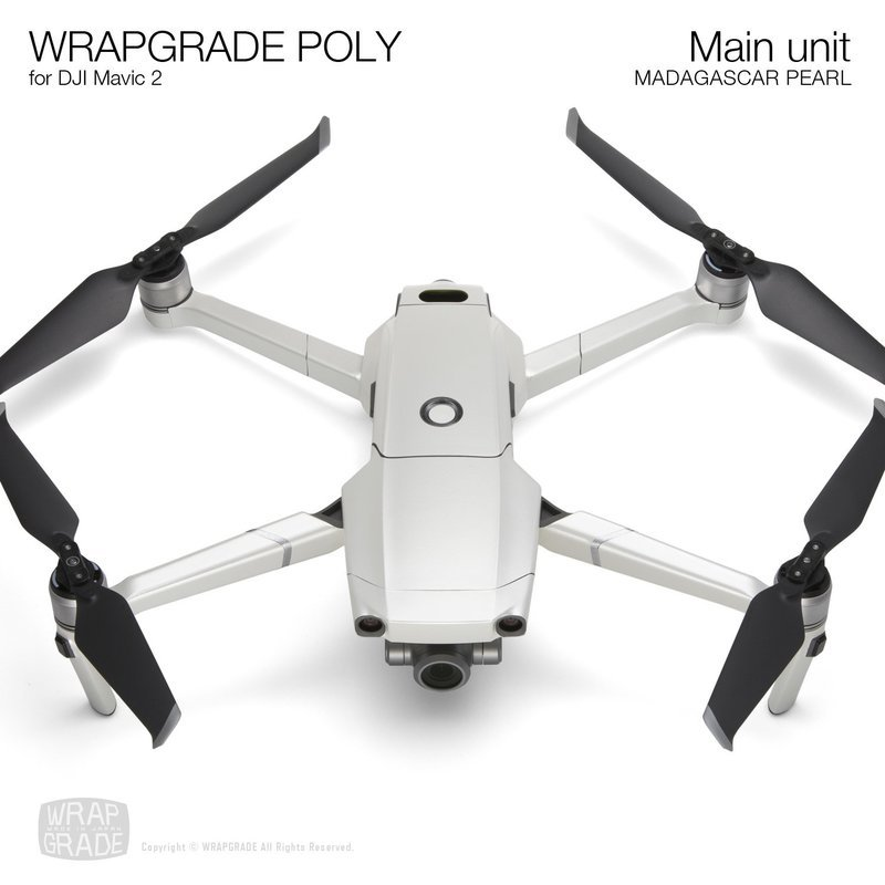 Wrapgrade Poly Skin for DJI Mavic 2 | Main unit (MADAGASCAR PEARL)