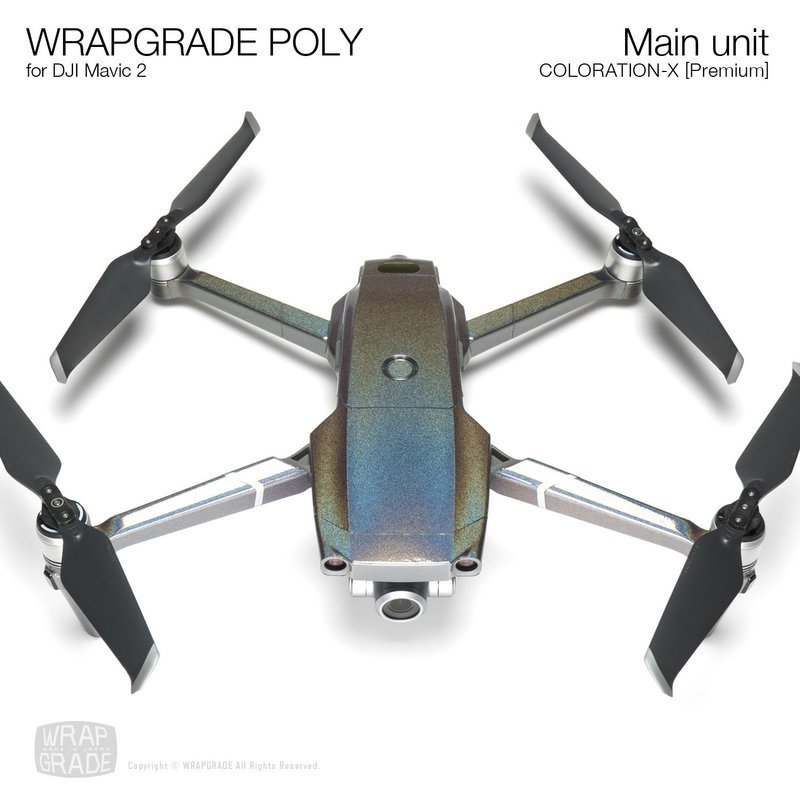 Wrapgrade Poly Skin for DJI Mavic 2 | Main unit (COLORATION-X)