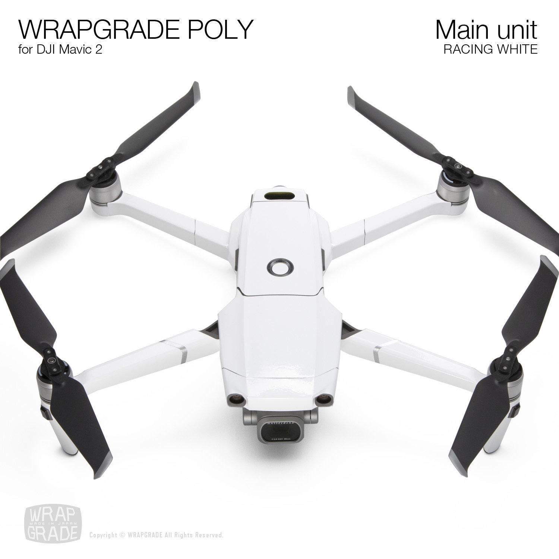 Wrapgrade Poly Skin for DJI Mavic 2   Main unit (RACING WHITE)