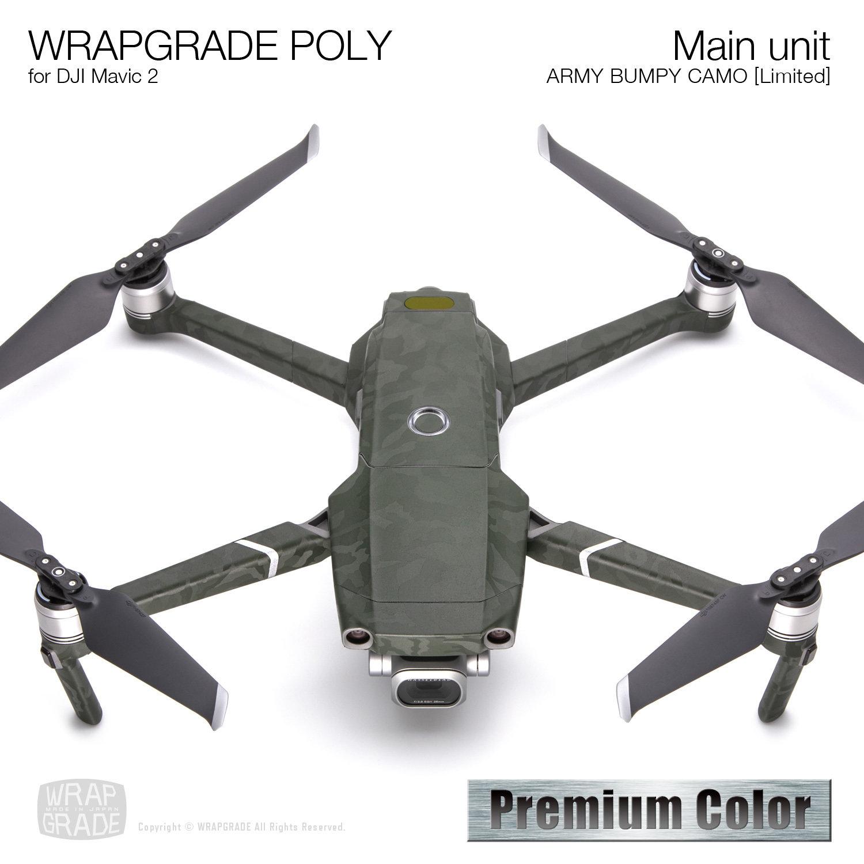 Wrapgrade Poly Skin for DJI Mavic 2 | Main unit (ARMY BUMPY CAMO)