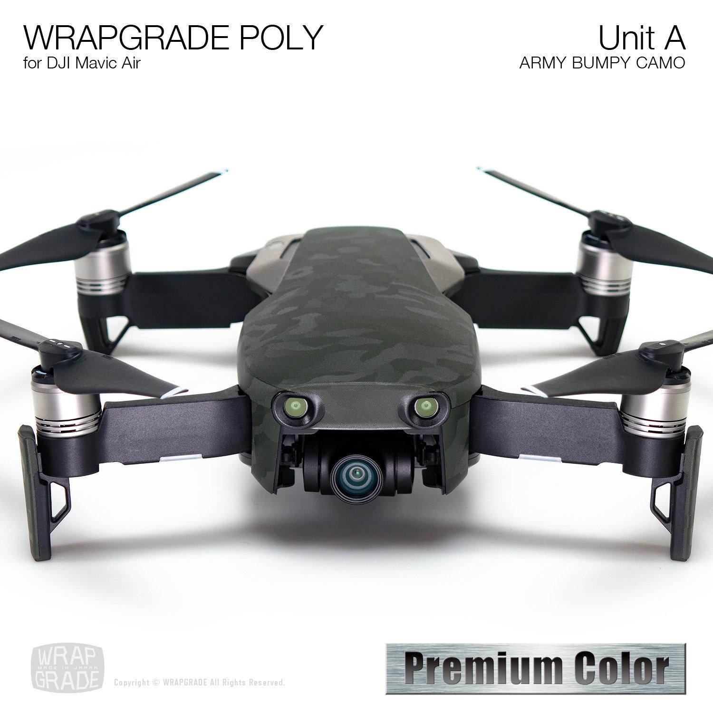 Wrapgrade Poly Skin for DJI Mavic Air | Unit A (ARMY BUMPY CAMO)