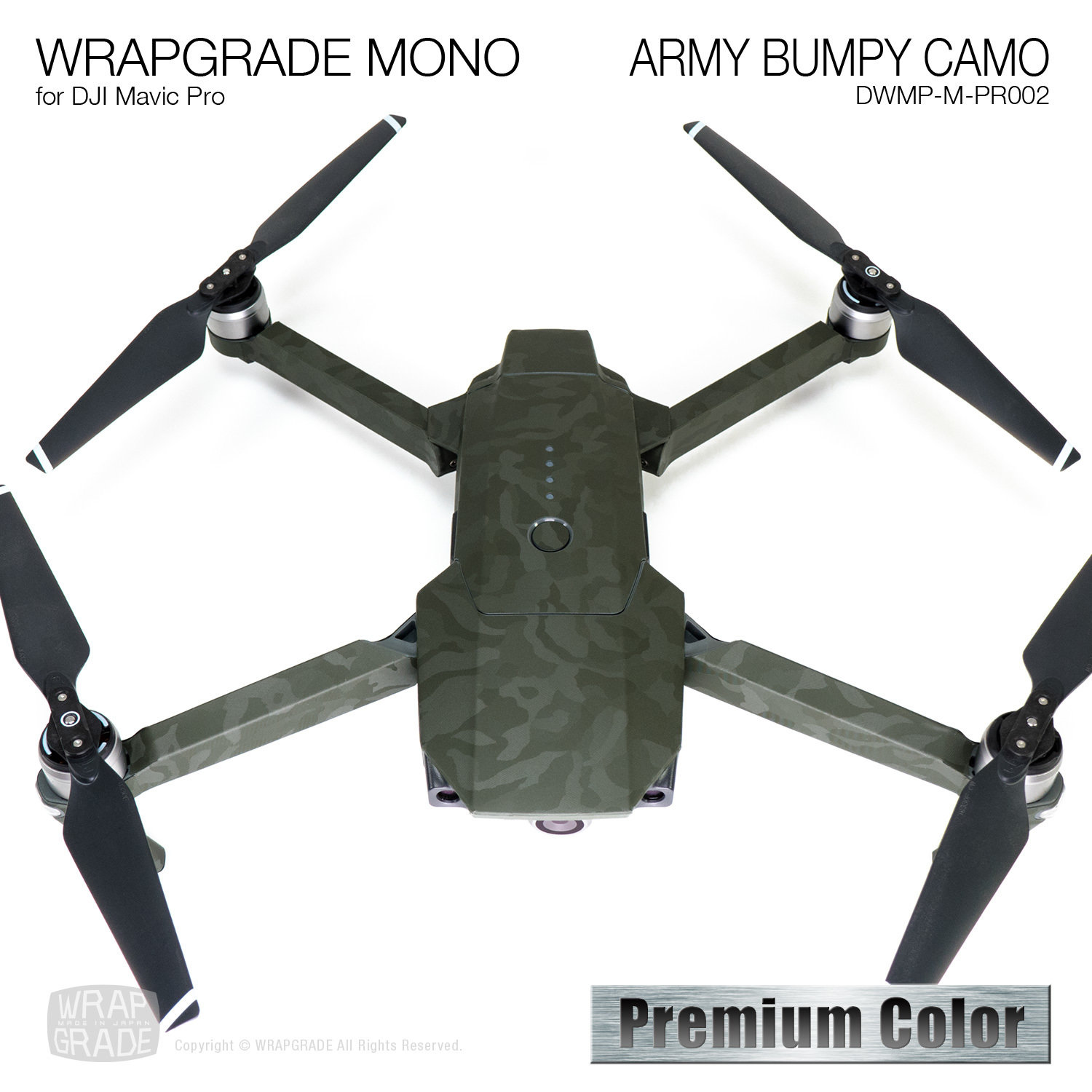 ARMY BUMPY CAMO for DJI Mavic Pro Skin | Embossed