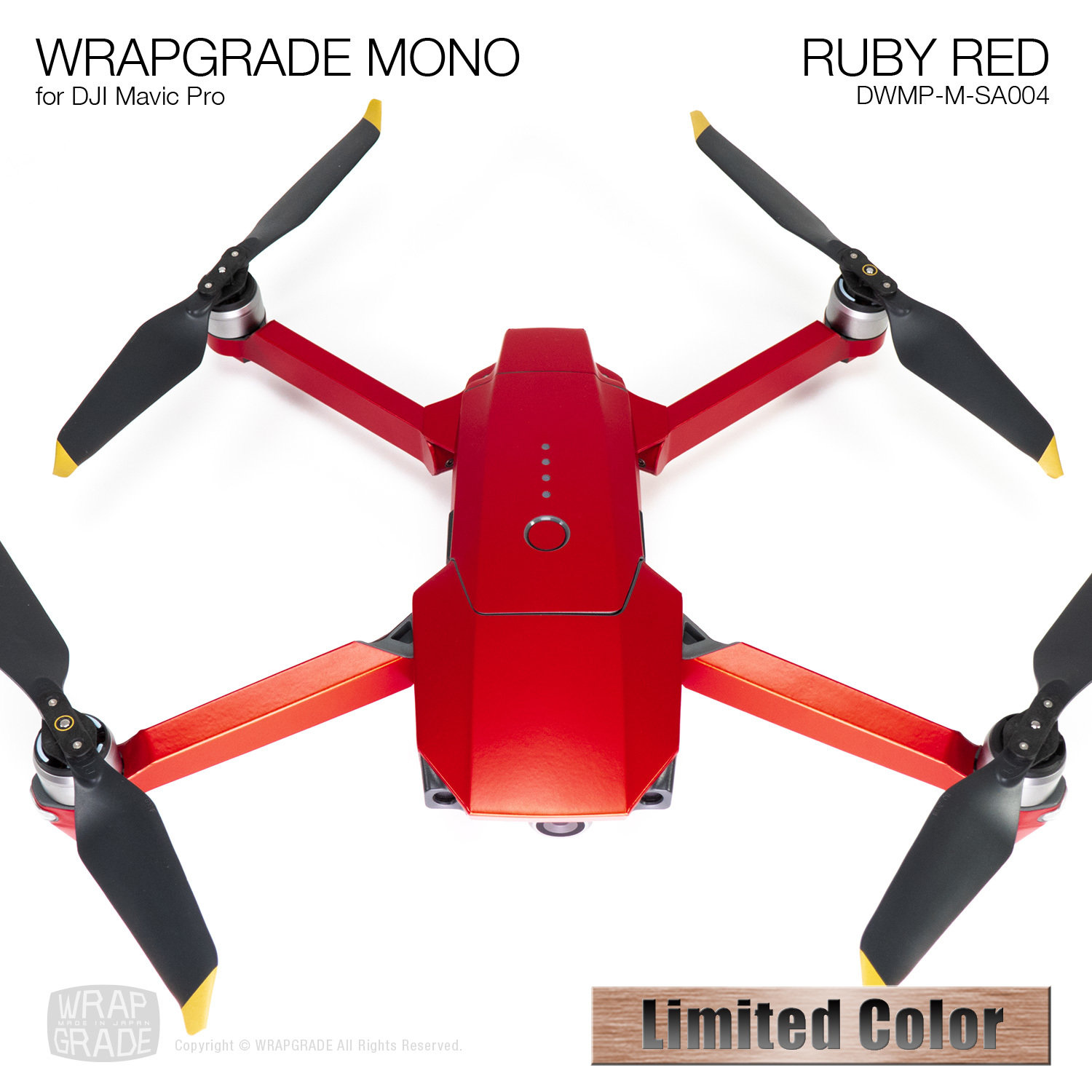 RUBY RED for DJI Mavic Pro Skin | Semi-Gloss