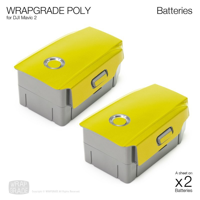 Wrapgrade Poly Skin for DJI Mavic 2 | 2 batteries [18 colors]