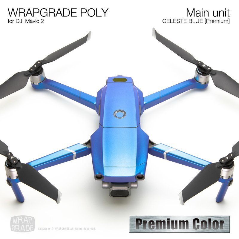 Wrapgrade Poly Skin for DJI Mavic 2 | Main unit (CELESTE BLUE)
