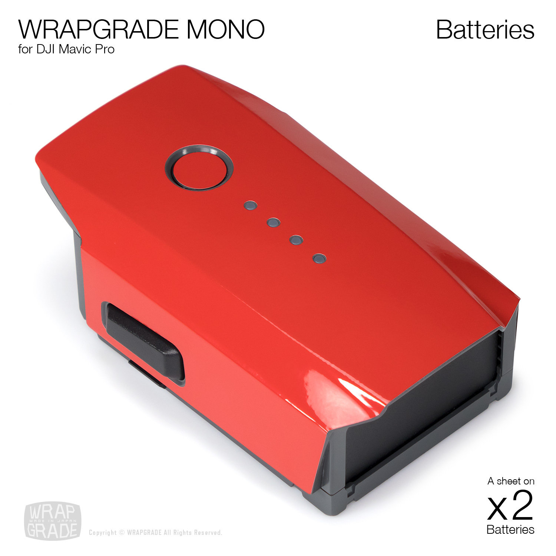 Wrapgrade Mono Skin for DJI Mavic Pro | 2 batteries [18 colors]