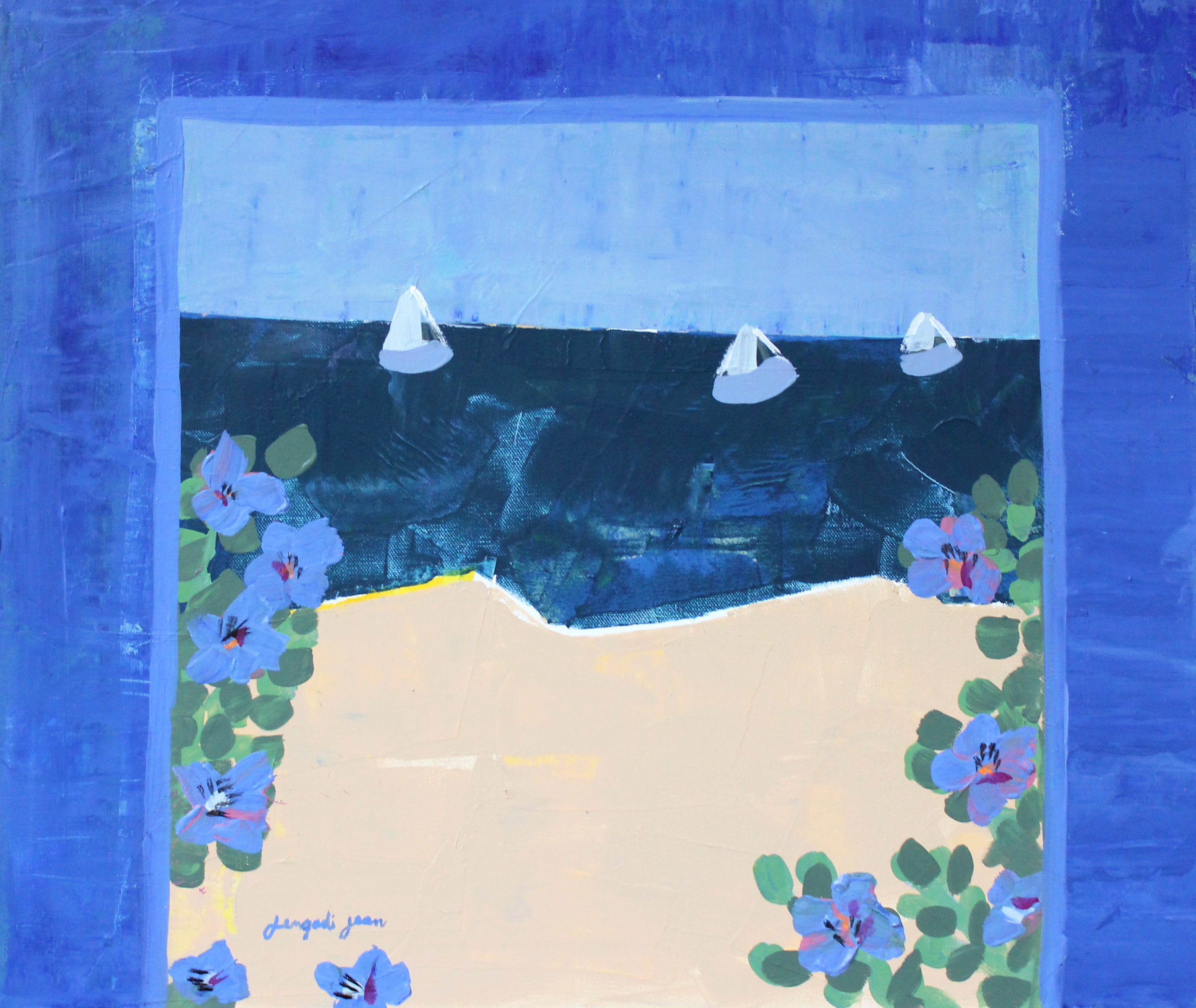 Blueberries by the Sea (20x24)